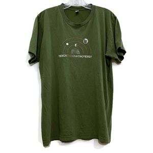 AMERICAN APPAREL Teach The Controversy Olive Tee